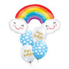 [Party]  Rainbow with Smiley Cloud Birthday Balloons Bouquet