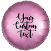 "18"" Personalised Satin Luxe Round Foil Balloon - Flamingo"