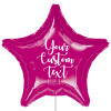 "32"" Personalised Giant Star Foil Balloon - Metallic Fuchsia"