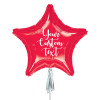 Personalised Giant Star Foil Balloon - Metallic Red