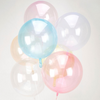 """18"""" Personalised Colored Crystal Clearz Bubble Balloon - Yellow"""
