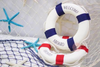 [Small] Life Preserver Buoy Props - Navy Blue (25cm)