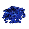 Metallic Blue Confetti