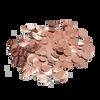 Mini Paper Round Confettis (1cm) - Metallic Rose Gold