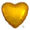"18"" Heart Foil Balloon - Metallic Gold"