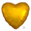 "18"" Heart Foil Balloon - Metallic Gold"