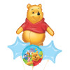 [Winnie The Pooh] Big As Life Pooh Happy Birthday Balloons Bouquet