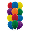 """9pcs 12"""" Vibrant Rainbow Latex Balloons in a  Cluster - Metallic Color"""