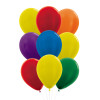 """12pcs 12"""" Vibrant Rainbow Latex Balloons in a  Cluster - Metallic Color"""