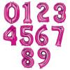 "34"" Giant Number Foil Balloon (Metallic Pink)"