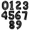 "34"" Giant Number Foil Balloon (Black)"