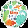 Happy Dino Happy Birthday Foil Balloon