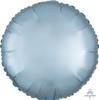 Satin Luxe Round Foil Balloon - Pastel Blue