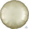 Satin Luxe Round Foil Balloon - Pastel Yellow