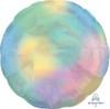 Iridescent Pastel Rainbow Circle Foil Balloon