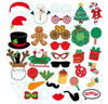 [Merry Christmas] (310 gsm Art Card cut-out) Christmas Party Photobooth Props (35-Designs,Ready Made)