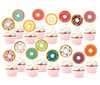 Cupcake Toppers (16pcs) - Sweet Colorful Donuts