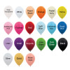 """5"""" and 12"""" Standard Metallic Round Latex Balloons (21 Colors) color chart"""