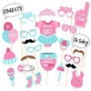 It's A Girl! Baby Shower Photobooth Props (25 Designs, DIY Kit)