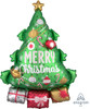 Christmas Tree Garland Foil Balloon (34inch)
