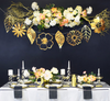 Flowers & Leaves Garland Bunting (2 meter) - Reflective Gold Foil