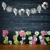 Flowers & Leaves Garland Bunting (2 meter) - Reflective Silver Foil