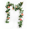 Artificial Leaves & Floral Garland (2.2 meter) - Peach Pink Roses