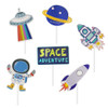 Adorable Space Themed Cupcake Topper (24pcs)
