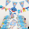 Happy Birthday Letter Bunting - Baby Shark Themed
