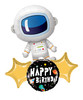 [Astronaut/Space] Flying Through Space Astronaut Birthday Balloons Bouquet