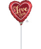 Mini Satin Sangria & Gold Love You Foil Balloon 9inch with Stick