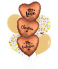 [My Love, My Valentine] Personalised Name My Love, My Valentine Balloons Bouquet - Satin Amber