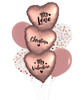 [My Love, My Valentine] Personalised Name My Love, My Valentine Balloons Bouquet - Satin Rose Cooper