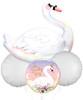 Graceful Swan Round Foil Balloons Bouquet