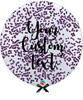 36'' Personalised Jumbo Perfectly Round Balloon - Round Confetti (1cm) Violet