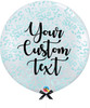36'' Personalised Jumbo Perfectly Round Balloon - Round Confetti (1cm) Baby Blue