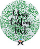 36'' Personalised Jumbo Perfectly Round Balloon - Round Confetti (1cm) Forest Green