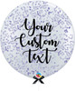 36'' Personalised Jumbo Perfectly Round Balloon - Round Confetti (1cm) Lavender Purple