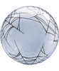 """24"""" Crystal Clear Transparent Spider's Web Printed Balloon"""