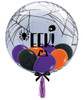 """[Halloween] 24"""" Crystal Clear Transparent Spider's Web Printed Balloon - Mini Fashion Balloons Filled [EEK!]"""