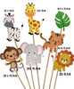 Jungle Safari Animal Themed Cupcake Topper (28pcs)