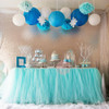 Handmade Tutu Tulle Table Skirt - Light Blue