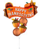 [Thanksgiving] Harvest Banner with Satin Infused Fall Acorn  Balloon Bouquet
