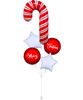 [Merry Christmas] Holiday Candy Cane Merry Christmas Balloons Bouquet