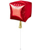 "[Cubez] 15""/38cm Cube Shaped Balloon - Red with 1pc Tassel Tail"