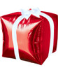"[Merry Christmas] 15"" Red Cube Shaped Christmas Present Balloon"