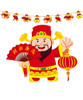 [CNY 2021] Chinese New Year Paper Bunting (3 Meter) - God of Fortune
