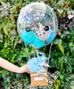 [Welcome, Little One!] Personalised Name Welcome to The World Balloons Bouquet Basket (In-The-Air Series) - Precious Baby Boy