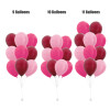 "(Create Your Own Helium Bouquet) 12"" Plain Latex Balloons Cluster - Metallic Colors"