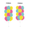 """(Create Your Own Helium Bouquet) 12"""" Plain Latex Balloons Cluster - Fashion Colors"""